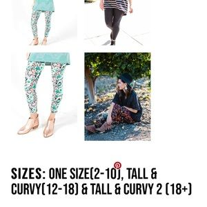 LuLaRoe Pants - NWOT Floral Print TC Leggings